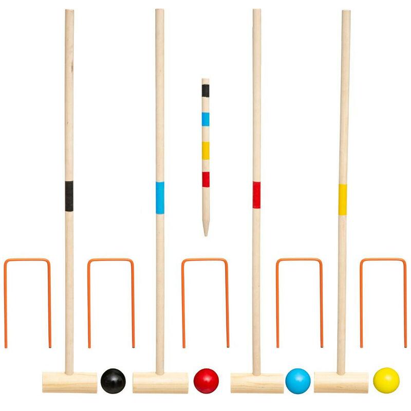 Jeu de croquet en bois - L 57 cm x l 9 cm - Livraison gratuite