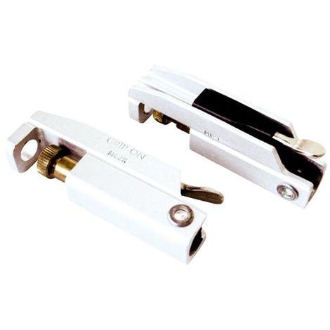 Jeu de deux pinces grip étaux MG2K-040 haute précision pour ép. 0,1 à 2 cm - L. totale 9,1 cm - 53207 - Piher