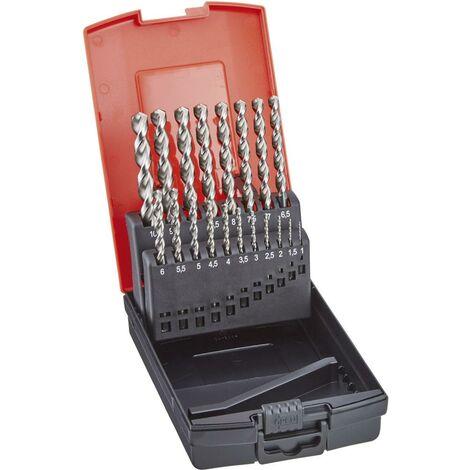 Jeu de forets hélicoïdaux DIN338 HSSE type TF 1,0-10,5mm pas de 0,5mm + forets pour avant-trous FORMAT 1 PCS