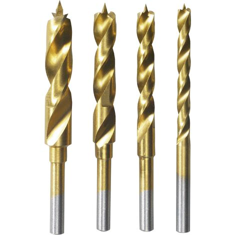 Jeu de forets pour le bois 4 pièces 3 mm, 4 mm, 5 mm, 6 mm Dremel 26150636JA tige cylindrique 1 set C37724