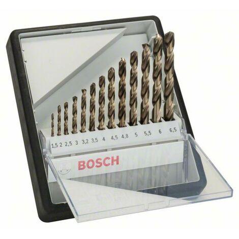 Jeu de forets pour le métal 13 pièces Bosch Accessories 2607019926 HSS Cobalt DIN 338 tige cylindrique 1 set