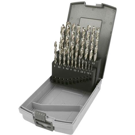 Jeu de forets pour le métal 19 pièces Heller 29384 6 HSS Cobalt, meulé DIN 338 tige cylindrique 1 set