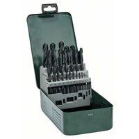 Jeu de forets pour le métal 25 pièces Bosch Accessories Promoline 2607019446 HSS laminé au rouleau DIN 338 tige cylindrique 1 set