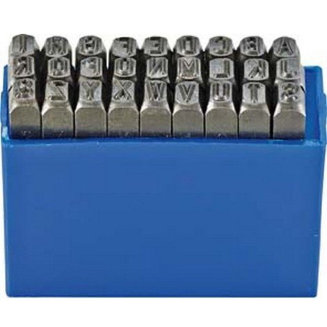 Jeu de lettres à frapper, Hauteur des caractères : 4 mm