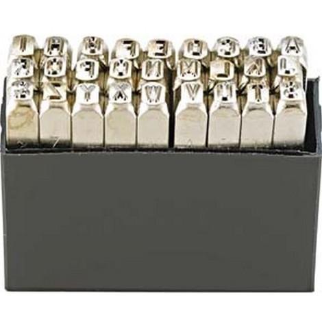 Jeu de lettres à frapper, TURNUS, Hauteur des caractères : 12 mm