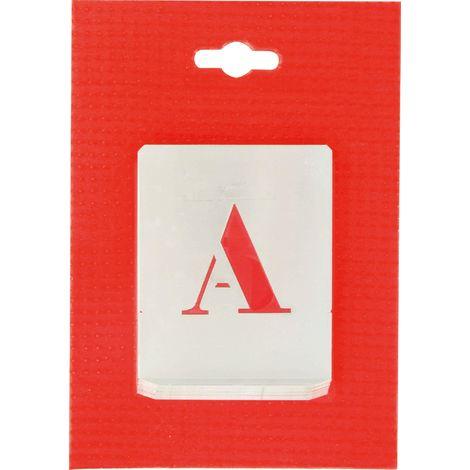 Jeu de lettres pochoirs alphabet aluminium ajouré Uny - Dimensions 40 mm