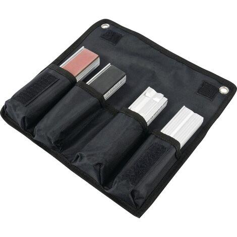 Jeu de mors serre-tubes/de protection pour l. de mors 100 mm 8 pces dans pochette aluminium