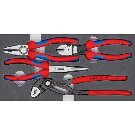Jeu de pinces Basic avec plateau en mousse 4 pièces KNIPEX 1 PCS