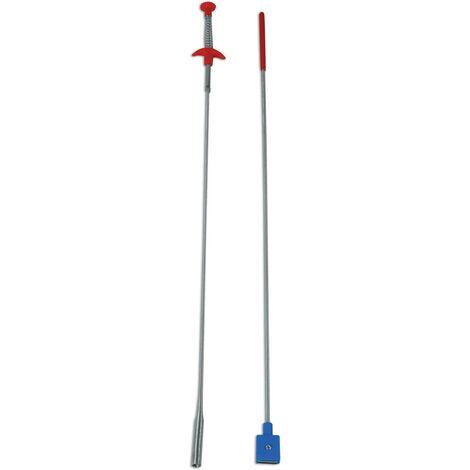 Long Flexible Pick Up Outil Griffe avec aimant et lumière DEL torche magnétique