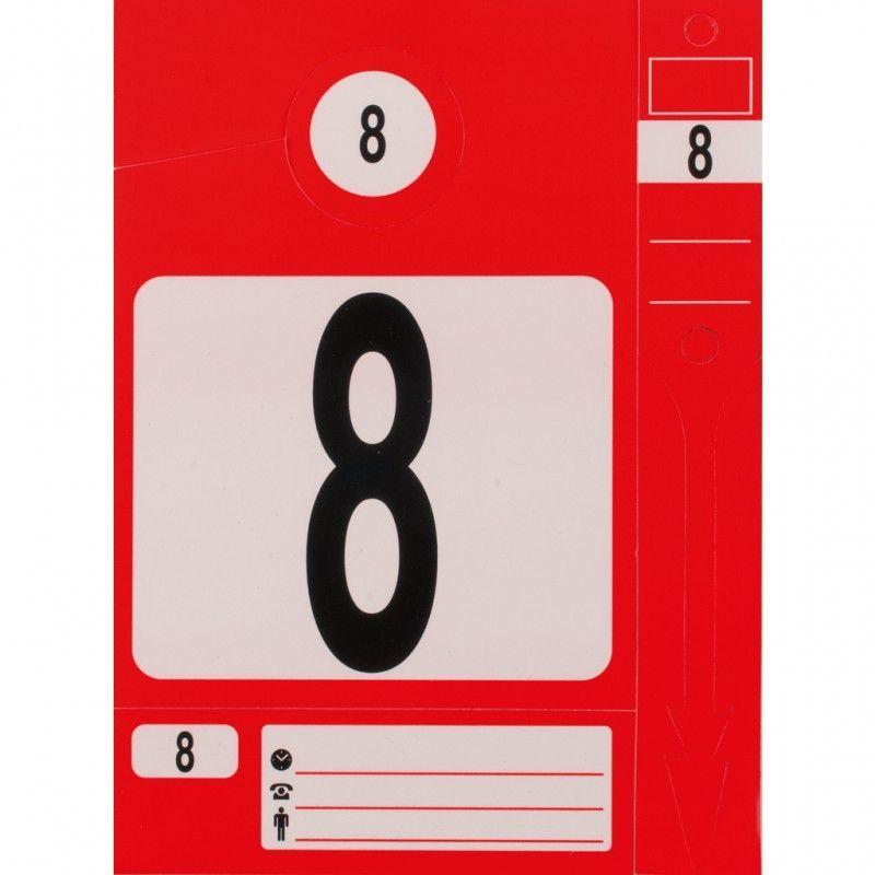 Kstools - KS TOOLS 500.8015 Jeu d'étiquettes et porte-clés rouge 96.64