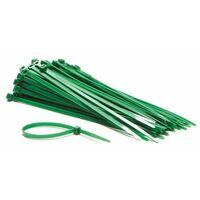 Jeu de serre-cables en nylon - 4.6 x 200 mm - vert (100 pcs)