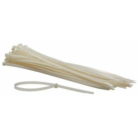 Jeu de serre-cables en nylon - 8.8 x 500 mm - blanc (100 pcs)