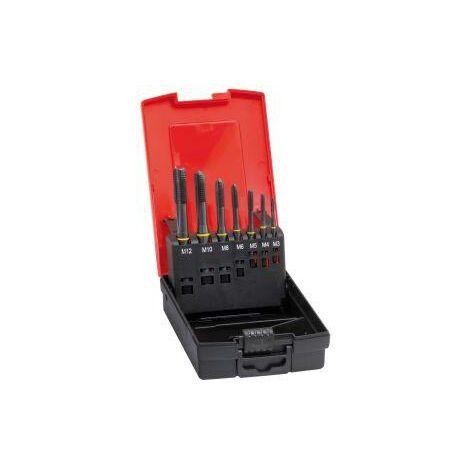 Jeu de tarauds machine DIN371/376 HSSE forme B M3-12 + forets pour avant-trous FORMAT 1 PCS