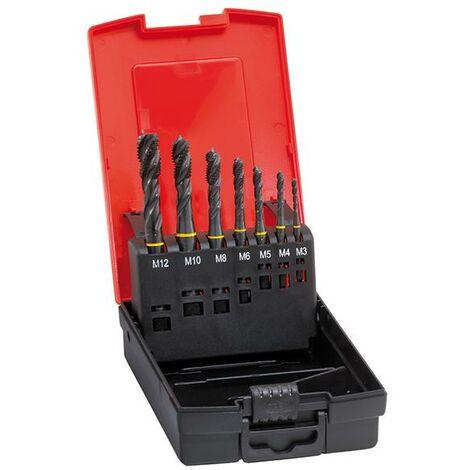 Jeu de tarauds machine DIN371/376 HSSE forme C M3-M12 + forets pour avant-trous FORMAT 1 PCS