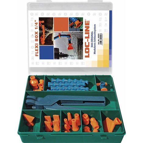 """Jeu de tuyaux d'agent réfrigérant Flexi-Box 27 pièces 1/4"""" LOC-LINE 1 PCS"""