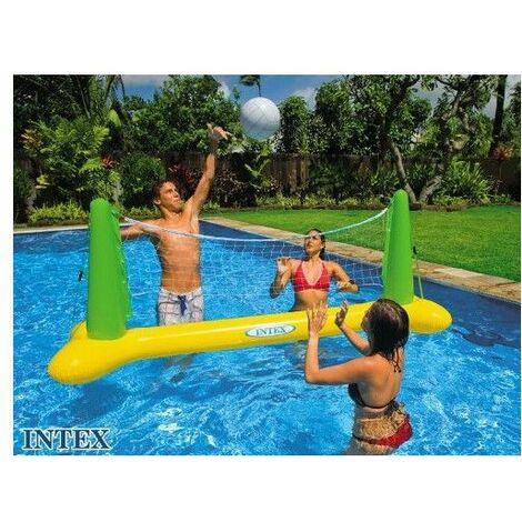 Jeu de volley flottant - Intex - Jeu d'extérieur pour piscine