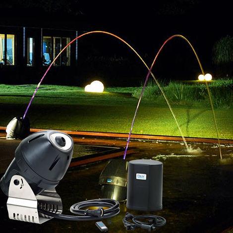 jeu d'eau et lumière 1 jet multicolore télécommandé 33w - jj rainbow star - oase