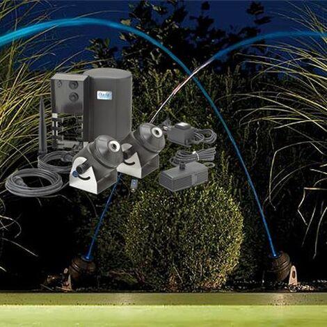 jeu d'eau et lumière 2 jets 41 w - water jet lighting - oase