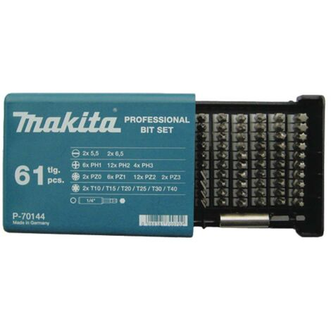 Jeu dembouts Makita P-70144 61 pièces 1 set