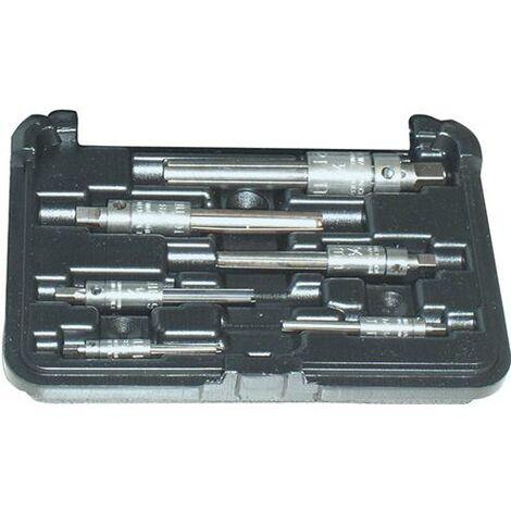 Jeu d'extracteurs de tarauds, 4 fentes, en coffret, Modèle : M4-M22 pour taraud mécanique, Taille de filetage M4 M5 M6 M8 M10 M12 M14 M16 M20 M22