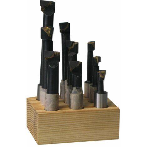 Jeu d'outils avec plaquettes brazées - têtes d'alésage MW-Tools KBS912