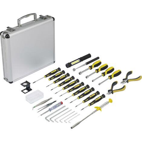 Jeu d'outils Basetech BT-1954694 pour les bricoleurs, pour les techniciens, pour électricien en valise 30 pièces 1 set R318011