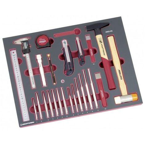 Jeu d'outils frappe/mesure/coupe 41 p. Kraftwerk 4902-05 278.74