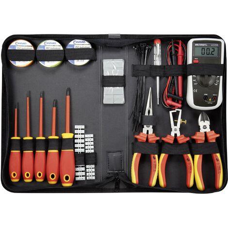 Jeu d'outils TOOLCRAFT 1177223 pour électricien en sacoche 50 pièces 1 set Q445521