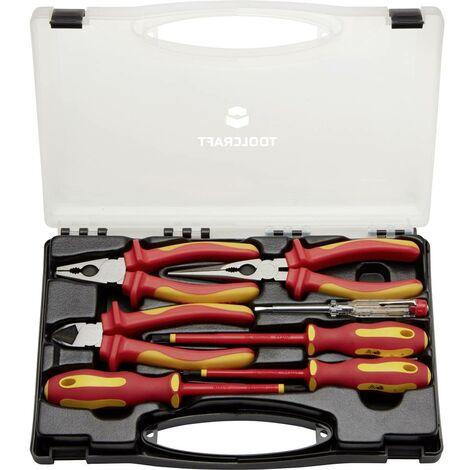 Jeu doutils TOOLCRAFT TO-5005137 pour électricien en valise 7 pièces 1 set