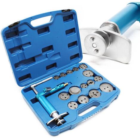 Jeu Repousse-piston pour Étriers de frein 16 pièces Air comprimé Frein à disque pneumatique Outil