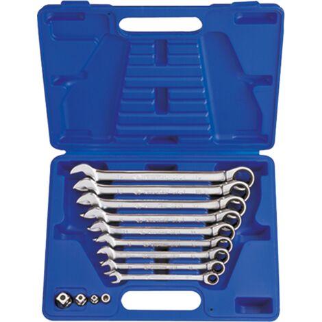 Tube de clés à douille jeu 8 pièces nouveau rohrschlüssel outil set sw 6-22 mm voiture