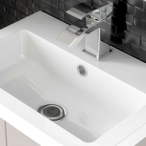 Jewel 400mm Polymarble Rear Tap Basin - 1 Tap Hole