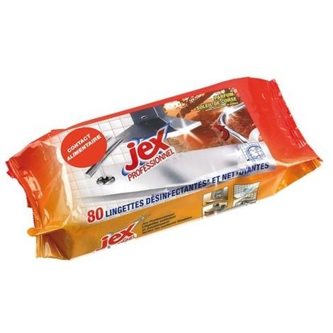 JEX - Lingettes nettoyantes désinfectantes lot de 80
