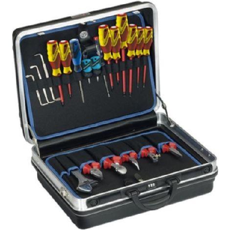 Jgo.herramientas electr. 90pza. en maleta Gedore