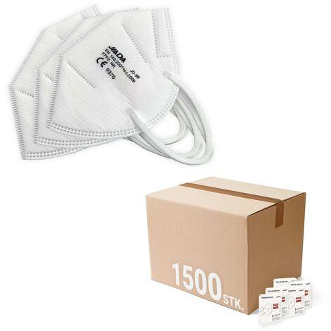 JIADA Atemschutzmaske FFP2 Mund-Nasen-Schutz 1500 Stück, Schutzmaske, Atemmasken, Faltmaske, einzeln verpackt