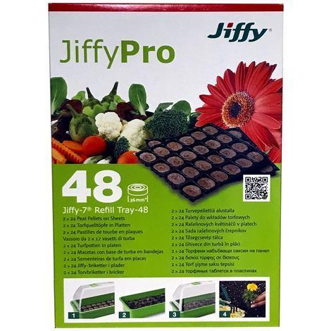 Jiffy Pro Torfquelltabs Nachfüllplatte für Zimmergewächshaus