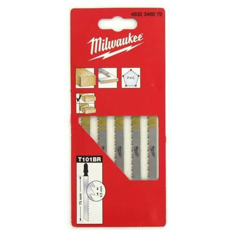 jig saw blades pack of 5 MILWAUKEE melamine 75 mm toothed 2.5 mm 4932346079
