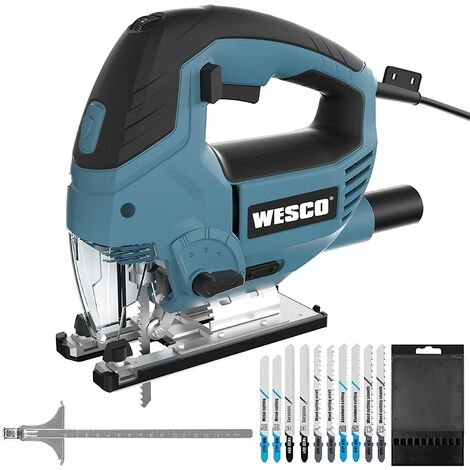 """main image of """"Jigsaw 850W, Electric Jigsaw & LED, 3000SPM, 6-Speed preselection, 10 Blades, 4 Position Orbital Action, Cutting Angle ± 45°, Aluminium Base Plate, Copper Motor, Jigsaw Tool for Wood Metel Cutting/WS3772.1"""""""