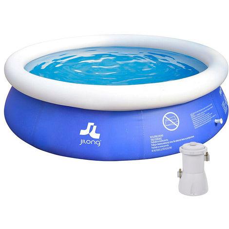 jilong piscine hors sol ronde gonflable 300 cm avec pompe. Black Bedroom Furniture Sets. Home Design Ideas