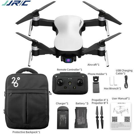 "main image of ""JJRC X12 Drone RC sin escobillas con camara Gimbal estabilizado de 3 ejes 12MP 4K Foto Quadcopter Avion interior al aire libre para adultos 2 bateria, Negro, 2 pilas"""