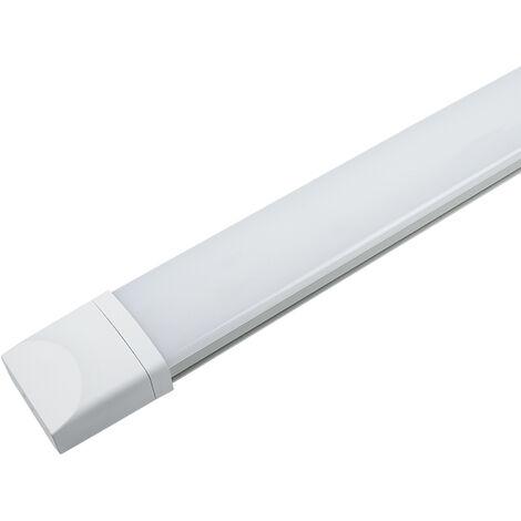 JNC 60CM Tube LED 18W Plafonnier Étanche IP65 Lampe sur Plafond Anti-Poussière Anti-Corrosion et Anti-Choc Tube Léger Ampoule LED Blanc Neutre 4000K