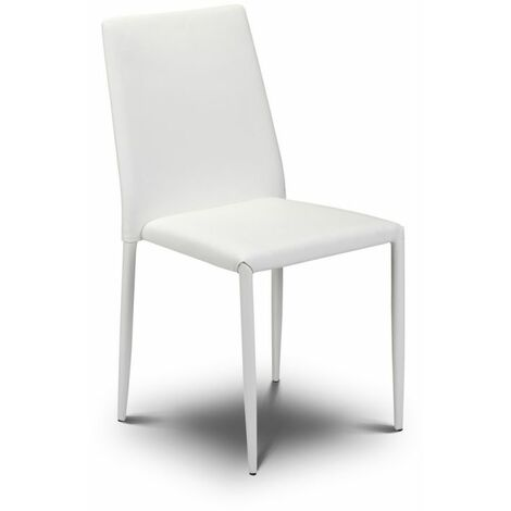 Joa Faux Leather Kitchen Dining Chair Stacking Fully Assembled