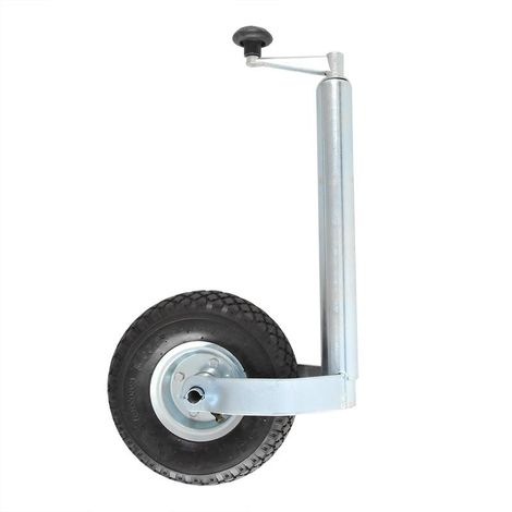Jockey wheel 48mm metal rim with air tyre 260x85mm