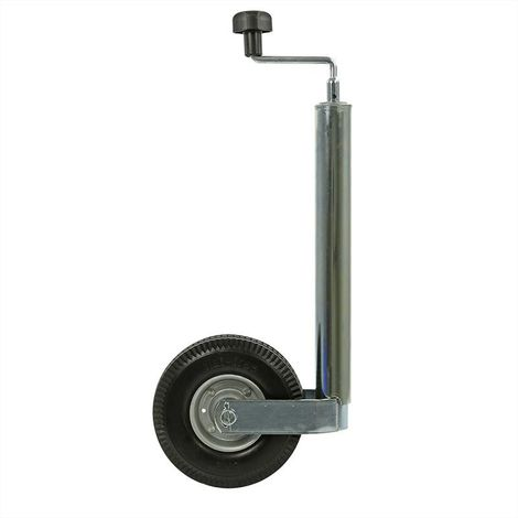 Jockey wheel 48mm metal rim with PU tyre 200x50mm