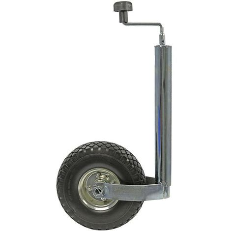 Jockey wheel 48mm metal rim with PU tyre 260x85mm