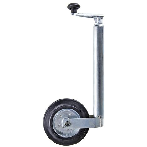 Jockey wheel 48mm metal rim with solid rubber tyre 200x50mm