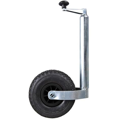 Jockey wheel 48mm plastic rim with air tyre 260x85mm