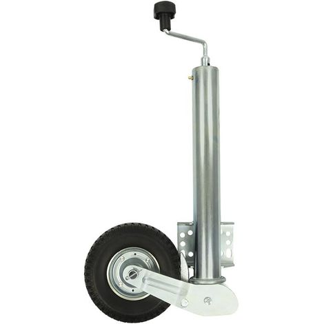 Jockey wheel 60mm metal rim with PU tyre 200x60 foldable