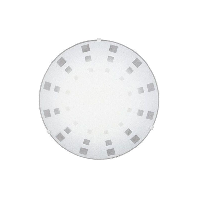 Massive - Jodie Jodie - Plafoniera tonda in vetro bianco con decorazione grigia