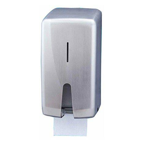 Jofel AF55000Futura Distributeur papier toilette Dérouleur double en inox satiné pour la maison 2rouleaux